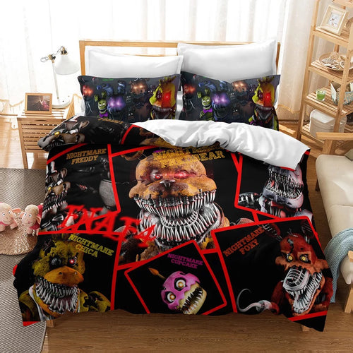 Five Nights at Freddy's #7 Duvet Cover Quilt Cover Pillowcase Bedding Set Bed Linen Home Decor
