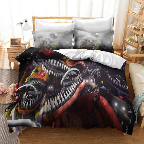 Five Nights at Freddy's #9 Duvet Cover Quilt Cover Pillowcase Bedding Set Bed Linen Home Decor