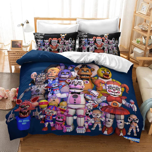 Five Nights at Freddy's #12 Duvet Cover Quilt Cover Pillowcase Bedding Set Bed Linen Home Decor