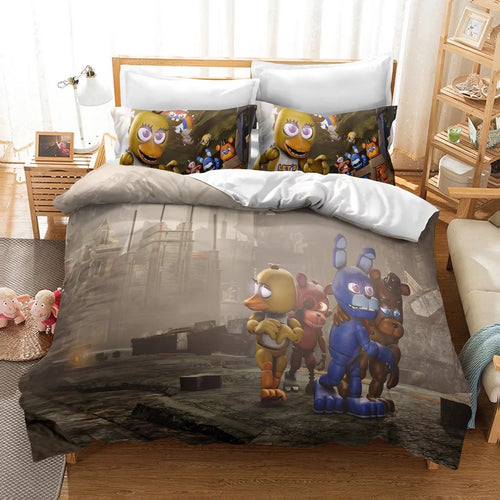 Five Nights at Freddy's #14 Duvet Cover Quilt Cover Pillowcase Bedding Set Bed Linen Home Decor