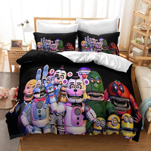 Five Nights at Freddy's #18 Duvet Cover Quilt Cover Pillowcase Bedding Set Bed Linen Home Decor