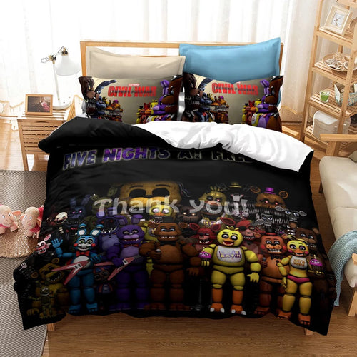 Five Nights at Freddy's #20 Duvet Cover Quilt Cover Pillowcase Bedding Set Bed Linen Home Decor