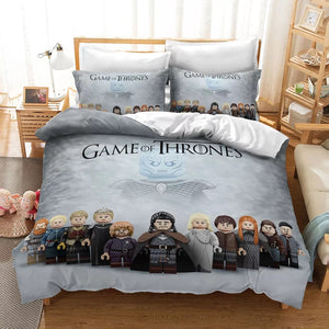 Lego Game of Thrones #11 Duvet Cover Quilt Cover Pillowcase Bedding Set Bed Linen Home Decor