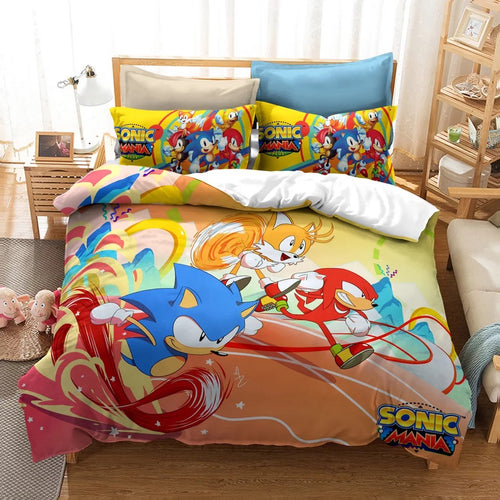 Sonic Mania #2 Duvet Cover Quilt Cover Pillowcase Bedding Set Bed Linen Home Decor