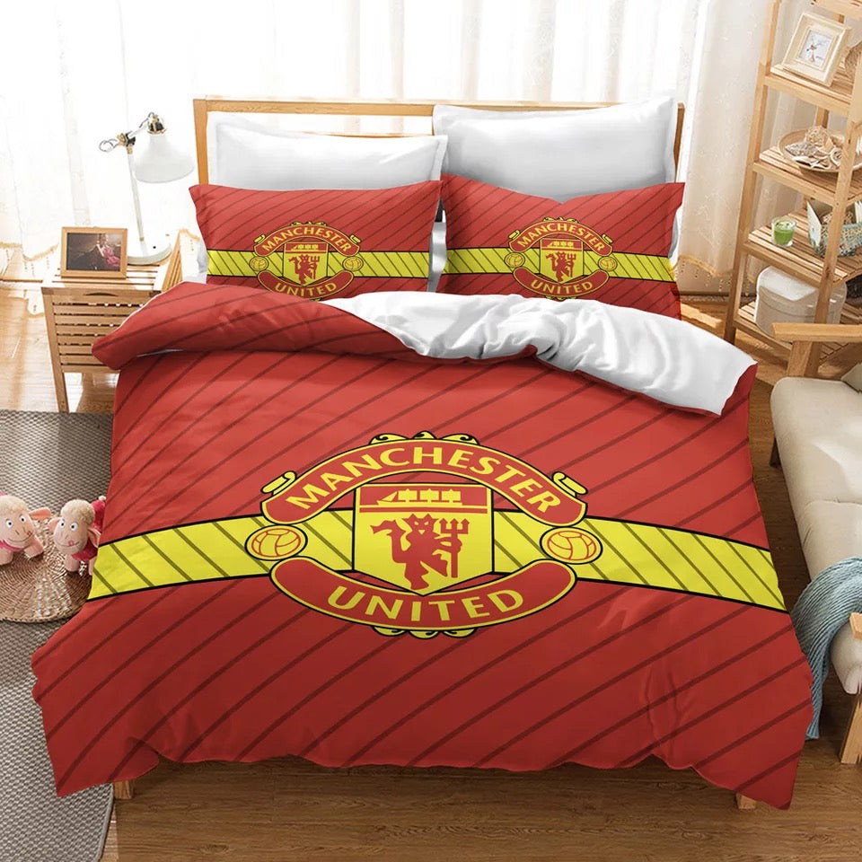 Manchester United Football Club #3 Duvet Cover Quilt Cover Pillowcase Bedding Set Bed Linen Home Decor