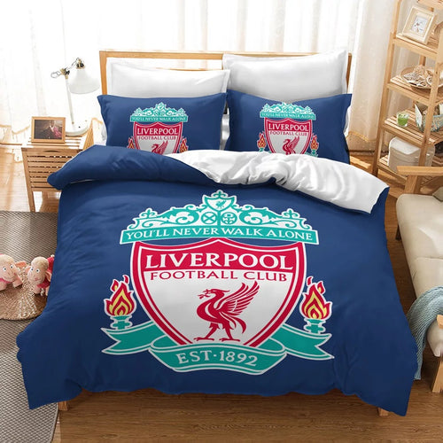 Liverpool Football Club #9 Duvet Cover Quilt Cover Pillowcase Bedding Set Bed Linen Home Decor