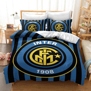 Internazionale Milano Football Club Inter #15 Duvet Cover Quilt Cover Pillowcase Bedding Set Bed Linen Home Decor
