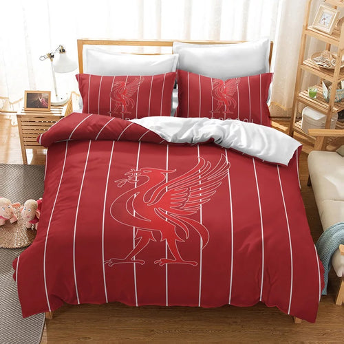 Liverpool Football Club #26 Duvet Cover Quilt Cover Pillowcase Bedding Set Bed Linen Home Decor