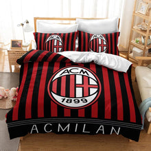Load image into Gallery viewer, Associazione Calcio Milan ACM Football Club #24 Duvet Cover Quilt Cover Pillowcase Bedding Set Bed Linen Home Decor