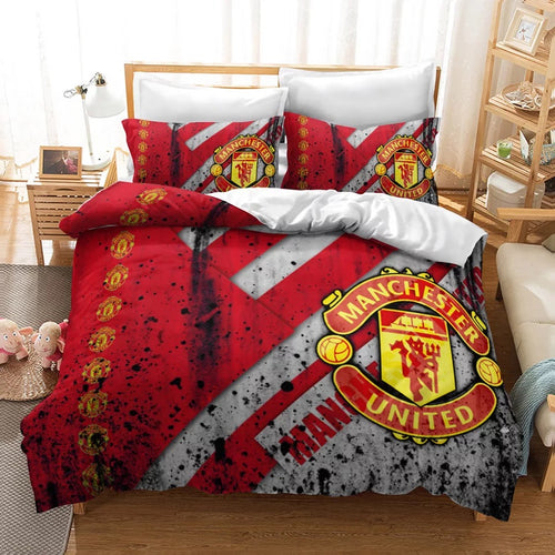 Manchester United Football Club #5 Duvet Cover Quilt Cover Pillowcase Bedding Set Bed Linen Home Decor