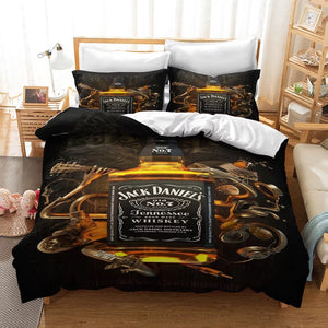 JACK DANIELS #2 Duvet Cover Quilt Cover Pillowcase Bedding Set Bed Linen Home Decor