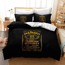 Load image into Gallery viewer, JACK DANIELS #3 Duvet Cover Quilt Cover Pillowcase Bedding Set Bed Linen Home Decor