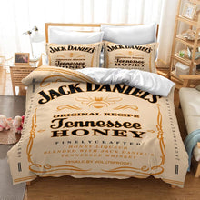Load image into Gallery viewer, JACK DANIELS #5 Duvet Cover Quilt Cover Pillowcase Bedding Set Bed Linen Home Decor