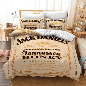 JACK DANIELS #5 Duvet Cover Quilt Cover Pillowcase Bedding Set Bed Linen Home Decor