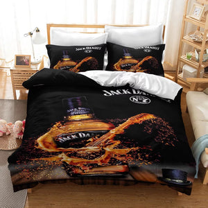 JACK DANIELS #8 Duvet Cover Quilt Cover Pillowcase Bedding Set Bed Linen Home Decor