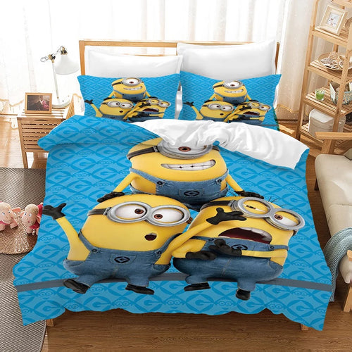 Despicable Me Minions Christmas #2 Duvet Cover Quilt Cover Pillowcase Bedding Set Bed Linen Home Decor