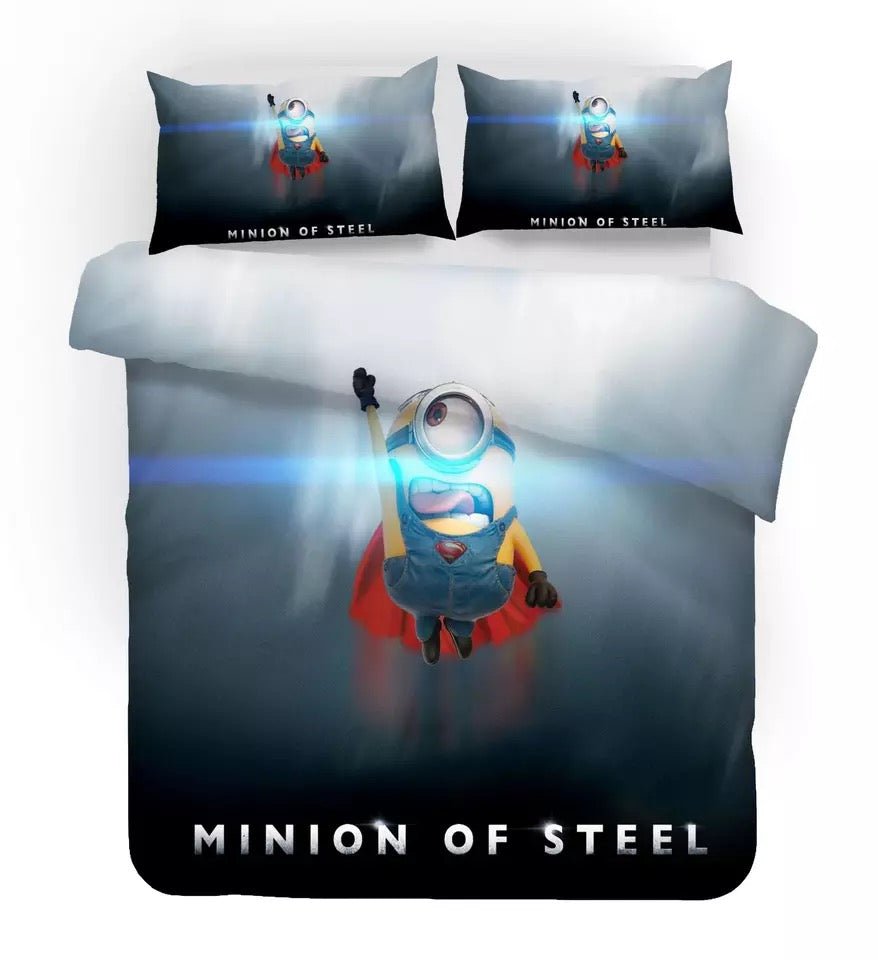 Despicable Me Minions #4 Duvet Cover Quilt Cover Pillowcase Bedding Set Bed Linen Home Decor
