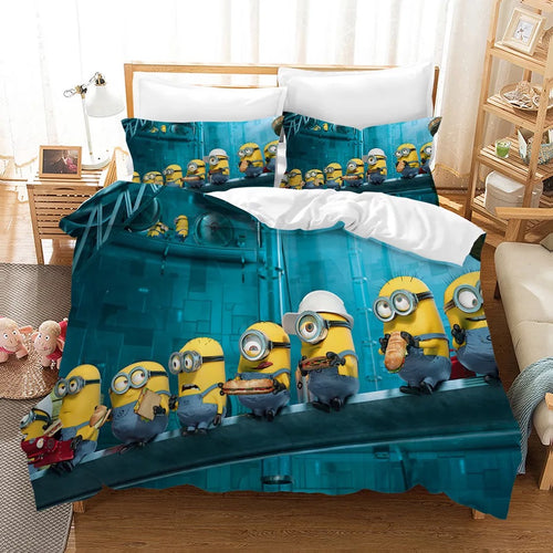 Despicable Me Minions #7 Duvet Cover Quilt Cover Pillowcase Bedding Set Bed Linen Home Decor