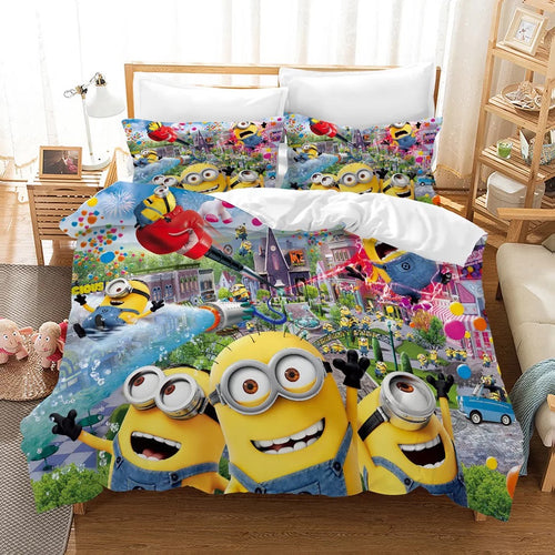 Despicable Me Minions #8 Duvet Cover Quilt Cover Pillowcase Bedding Set Bed Linen Home Decor
