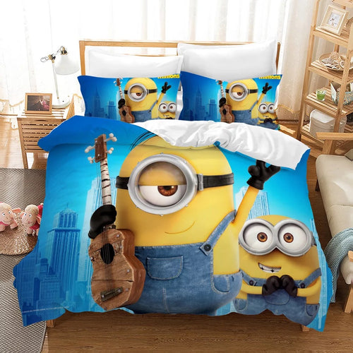 Despicable Me Minions #9 Duvet Cover Quilt Cover Pillowcase Bedding Set Bed Linen Home Decor