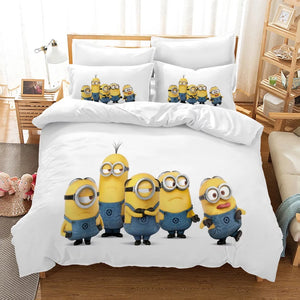 Despicable Me Minions #10 Duvet Cover Quilt Cover Pillowcase Bedding Set Bed Linen Home Decor