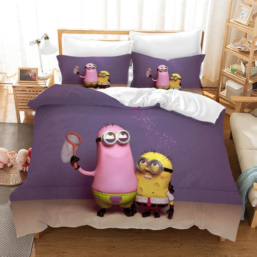 Despicable Me Minions #12 Duvet Cover Quilt Cover Pillowcase Bedding Set Bed Linen Home Decor