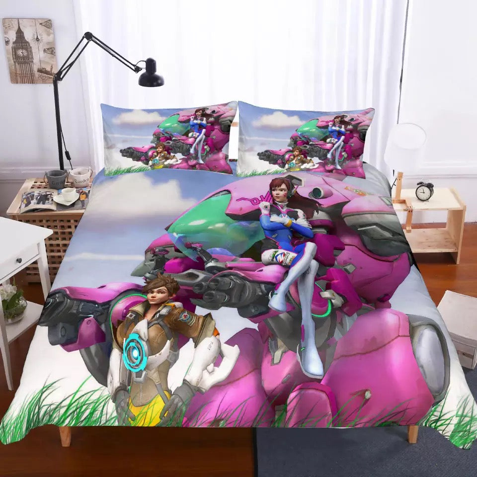 Game Overwatch #15 Duvet Cover Quilt Cover Pillowcase Bedding Set Bed Linen Home Bedroom Decor