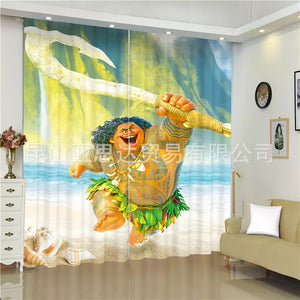 Moana #1 Blackout Curtains For Window Treatment Set For Living Room Bedroom
