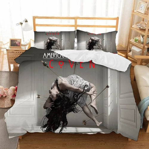 American Horror Story #5 Duvet Cover Quilt Cover Pillowcase Bedding Set Bed Linen Home Bedroom Decor