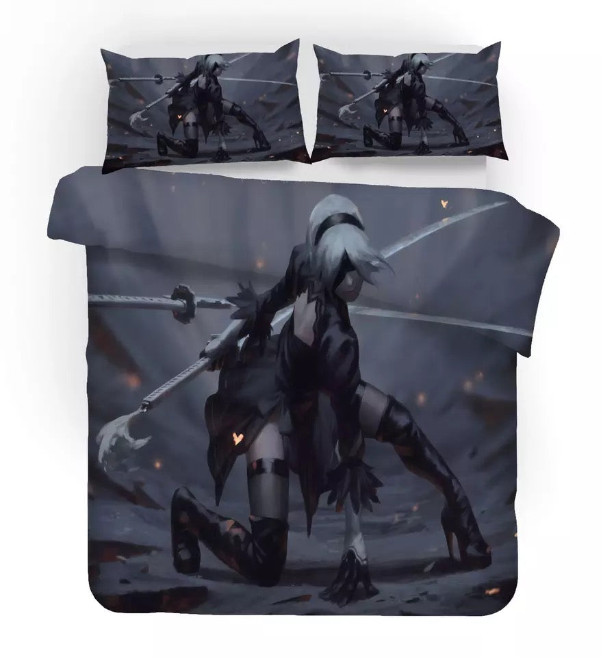 Nier Automata Yorha 2B #3 Duvet Cover Quilt Cover Pillowcase Bedding Set Bed Linen Home Decor