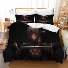Load image into Gallery viewer, Nier Automata Yorha 2B #5 Duvet Cover Quilt Cover Pillowcase Bedding Set Bed Linen Home Decor