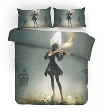 Load image into Gallery viewer, Nier Automata Yorha 2B #8 Duvet Cover Quilt Cover Pillowcase Bedding Set Bed Linen Home Decor