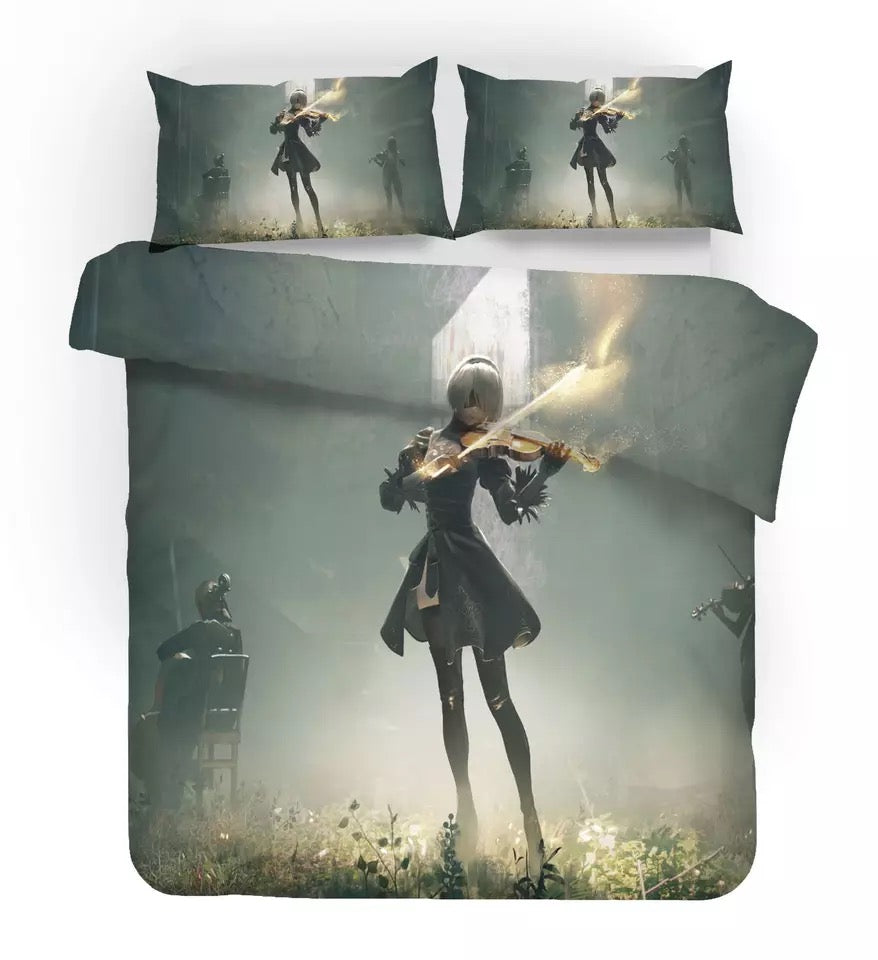 Nier Automata Yorha 2B #8 Duvet Cover Quilt Cover Pillowcase Bedding Set Bed Linen Home Decor