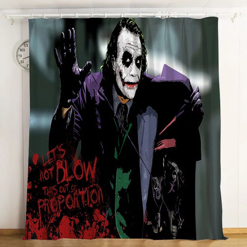 2019 Joker Arthur Fleck Clown #2 Blackout Curtains For Window Treatment Set For Living Room Bedroom