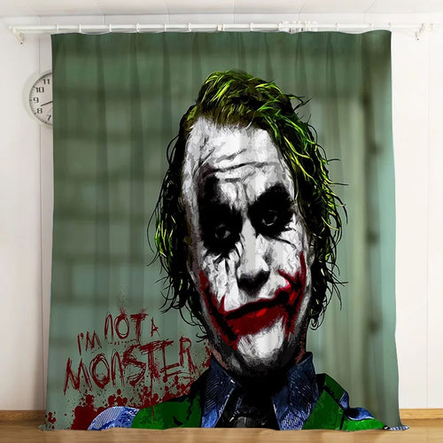 2019 Joker Arthur Fleck Clown #3 Blackout Curtains For Window Treatment Set For Living Room Bedroom