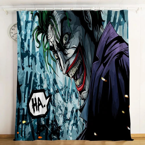 2019 Joker Arthur Fleck Clown #5 Blackout Curtains For Window Treatment Set For Living Room Bedroom