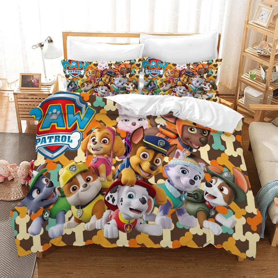PAW Patrol Marshall #5 Duvet Cover Quilt Cover Pillowcase Bedding Set Bed Linen Home Decor