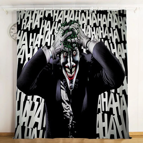 2019 Joker Arthur Fleck Clown #6 Blackout Curtains For Window Treatment Set For Living Room Bedroom