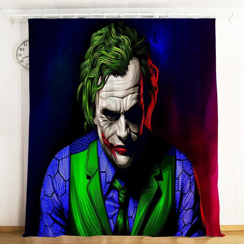 2019 Joker Arthur Fleck Clown #9 Blackout Curtains For Window Treatment Set For Living Room Bedroom