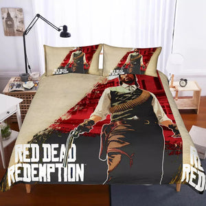 Red Dead Redemption #2 Duvet Cover Quilt Cover Pillowcase Bedding Set Bed Linen Home Decor