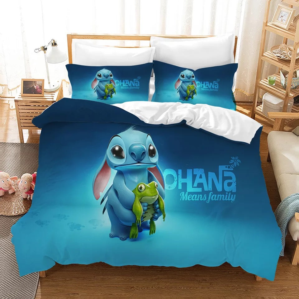 Lilo & Stitch #12 Duvet Cover Quilt Cover Pillowcase Bedding Set Bed Linen Home Decor