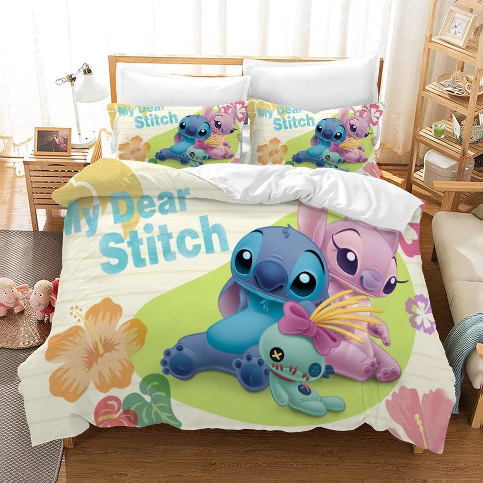 Lilo & Stitch #14 Duvet Cover Quilt Cover Pillowcase Bedding Set Bed Linen Home Decor