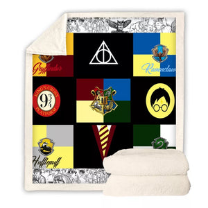 Harry Potter Hogwarts #2 Blanket Super Soft Cozy Sherpa Fleece Throw Blanket for Men Boys