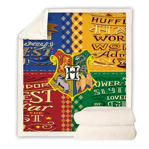 Harry Potter Hogwarts #3 Blanket Super Soft Cozy Sherpa Fleece Throw Blanket for Men Boys