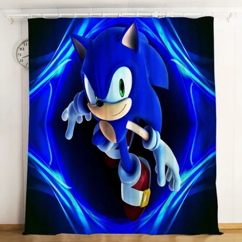 Sonic The Hedgehog #1 Blackout Curtains For Window Treatment Set For Living Room Bedroom