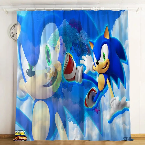 Sonic The Hedgehog #2 Blackout Curtains For Window Treatment Set For Living Room Bedroom
