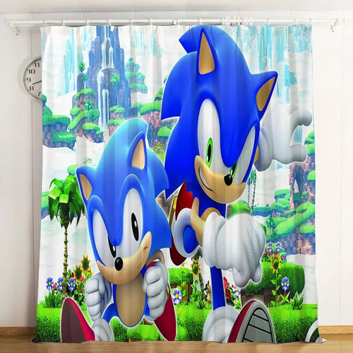 Sonic The Hedgehog #3 Blackout Curtains For Window Treatment Set For Living Room Bedroom