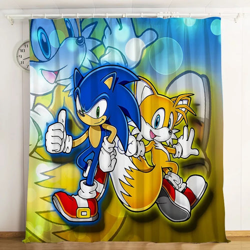 Sonic The Hedgehog #5 Blackout Curtains For Window Treatment Set For Living Room Bedroom