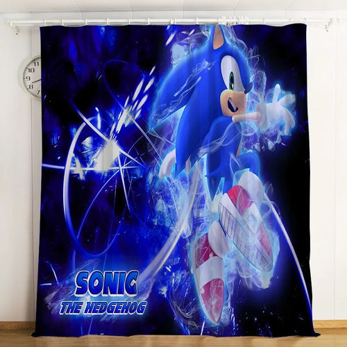 Sonic The Hedgehog #12 Blackout Curtains For Window Treatment Set For Living Room Bedroom