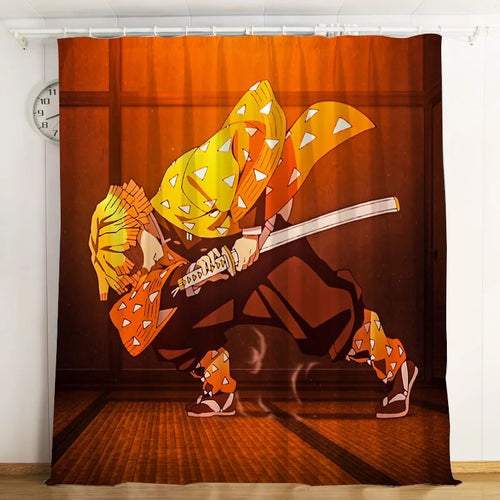 Demon Slayer Kimetsu no Yaiba #3 Blackout Curtains For Window Treatment Set For Living Room Bedroom